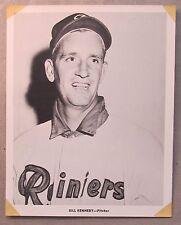1956 BILL KENNEDY Seattle Rainiers Popcorn Card premium 8x10 PCL