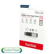 NUOVO SANDISK 64 GB 90 MB ixpand Mini USB 3.0 Chiavetta USB OTG per iPhone iPad nel Regno Unito