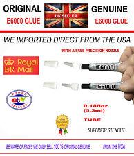 E6000 2 X Clear Pegamento 5.3ml 0.18oz fuerza industrial Pedrería Mejor Pegamento