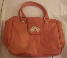 "Deux Lux Womens Purse Handbag Accessory Orange 17"" x 11"""