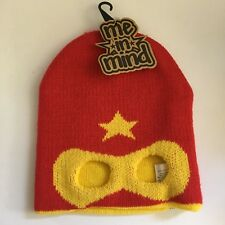 f01a0834c91 NWT ME IN MIND SUPERHERO BEANIE HAT Infant Toddler Sz 0-3 Yrs Knit