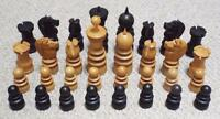 ANTIQUE 19th CENTURY ST GEORGE PATTERN WOODEN CHESS SET