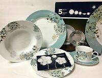 Mikasa 5 Piece Silk Floral Teal Porcelain Place Setting Set 5082074 Discontinued