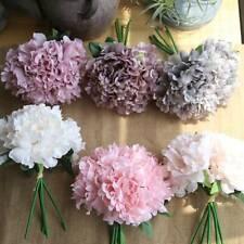 Peony bouquet 1pc Seda Artificial Flor Decoración Hogar Sala artesanías T