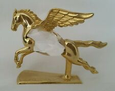 Magical Figurine Manon Gold Pegasus Flying Horse Wings Crystal Body 1984 Small