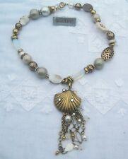 Bulatti exquisito Collar. Perla, Oro, Cristal, Piedras Corazón & Cadena de oro.