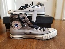 NEW Converse Chuck Taylor All Star Grey Studded Hi top unisex Sneakers 14127