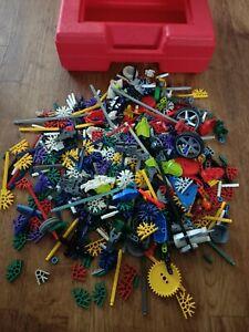 Knex red Plastic Carry Case - bulk lot pieces