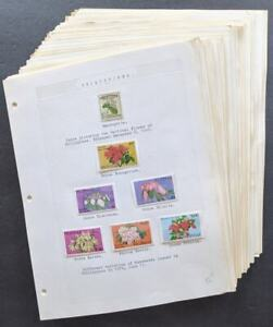 EDW1949SELL : WW TOPICAL Flowers. Collection from various countries mostly NH.