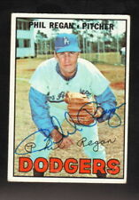Phil Regan--Autographed 1967 Topps Baseball Card--Los Angeles Dodgers