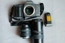 YASHICA 230-AF Camera + AF 35-70 + AF 70-210+ Flash