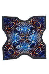 Mandala Dapo Ninja Star Wind - Spinning Cloth 8 Star Juggling Toy Fidget Game