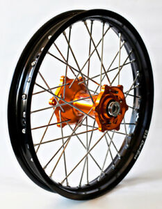 Front Wheel 1.60x21 Orange/Black Talon/DID for KTM 125-525SX/SXF 2003-2014