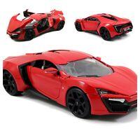 Jada Toys Fast & Furious Lykan Hypersport Diecast Vehicle, 1: 24 Scale Red