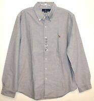 Polo Ralph Lauren Mens Gray Oxford Slim Fit Button-Front Shirt NWT Size XL