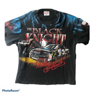 Vintage Dale Earnhardt The Black Knight T Shirt Single Stitch Size XL