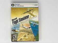 Microsoft Flight Simulator X Deluxe Edition PC DVD 2 Disc Complete CIB MINT
