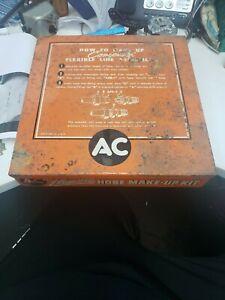 RARE VINTAGE AC SPARK PLUGS FLEXIBLE HOSE MAKE-UP KIT DISPLAY CASE