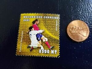 Patricio Omazabal Soccer Olympic 2001 Mocambique-Correios Perforated Stamp