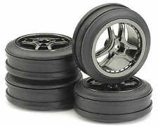 "Ansmann 1/10 Pack of 4 Tyre & Rim ""Drift"" Smoke-Chrome Set # 211000036"