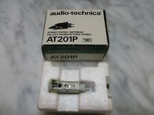 AUDIO TECHNICA AT201P P-MOUNT CART & GENUINE AUDIO TECHNICA STYLUS + ADAPTER/BOX