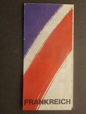 Frankreich French Tourist Board Michelin Map 1984