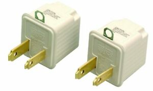 2 pack 3 to 2 Prong Outlet Grounding Adapter Converter Coleman Cable 09901