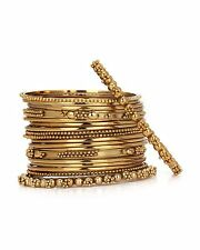 JDX Gold Plated India Handicraft Metal Fancy Bangles Set Size: 2.6 Lady Classic