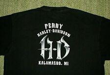 HARLEY DAVIDSON Rugged & Cool LoGo Graphic T-Shirt Mens XL Kalamazoo Mi