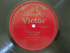 "JOHN McCORMACK~THE ROSARY~ONE SIDED~1908~64257~78RPM~10""~VICTROLA~VG"