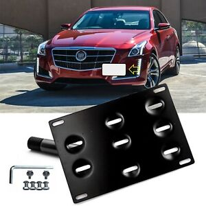For Cadillac CTS Sedan Coupe Front Tow Hook License Plate Adapter Mount Bracket