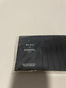 Chanel Bleu Eau de Parfum Pour Homme Lot of 12x 1,5ml (18ml)