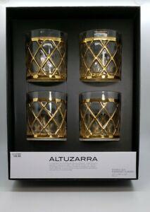Set of 4 Joseph Altuzarra Double Old Fashioned Glasses Cocktail Glass Cup NOB
