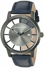 Kenneth Cole New York Men's Stainless Steel & Leather Watch KC50560005