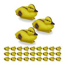 30 x Teichente Entenküken gelb Teichdeko Baby-Ente Garten Dekoente Teichfigur