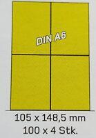 Universal Etiketten DPD DHL GLS selbstklebend 100Blatt A4 400Stück 105 x148,5mm