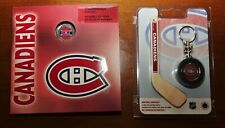 NHL Montreal Canadiens 2008 UNC Coin Set & 2009 Stick & Keychain Puck Set