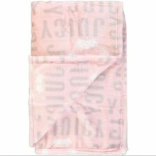 Juicy Couture Pink Blush Branded Super Soft Luxury Throw Home Decoration Gift