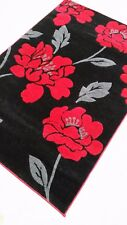 Beautiful Large Extra Large Rug Runner Floral Red Brown Silver Yellow Black new