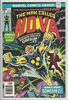 NOVA #1 (1st APPEARANCE & ORIGIN RICHARD RIDER) Avengers GOTG Marvel 1976 FN/VF