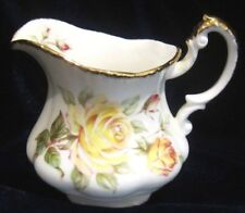 Paragon Peace Rose Bone China Creamer - Yellow Roses - 3.25 in.  - England