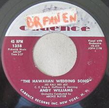 Andy Williams - The Hawaiian Wedding Song (Ke Kali Nei Au), Vinyl, 45rpm, 1958