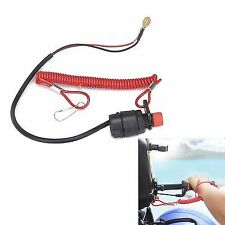 1PC Universal Boat Outboard Engine Motor Kill Stop Switch &Safety Tether Lanyard
