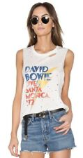 NWT DAYDREAMER Sz L DAVID BOWIE LIVE SANTA MONICA DISTRESSED MUSCLE TANK WHITE