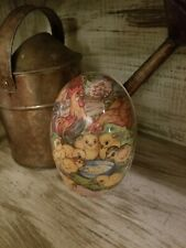 """Gorgeous Rare Antiqu 00004000 e German Paper Mache Lg 6"""" Rabbit Easter Egg Candy Container"""