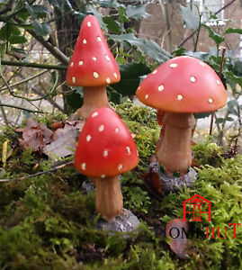 Fairy Garden Toadstools Garden  Mushrooms Garden Ornaments DS5081