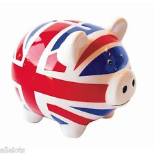 Lot de 48 Tirelires cochon céramique London Union Jack