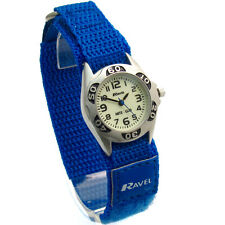Ravel Kids Night Glow Watch Hook & Loop Strap Royal Blue 1704.16
