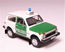 H0 BREKINA Lada Niva 1.7 i Geländewagen POLIZEI Blaulicht Sirene # 27214