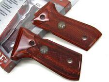 Pachmayr Checkered Rosewood Custom Grip Panel For Beretta 92 Pistol 63200